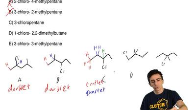The 1HNMR spectrum of which of these compounds would consist of a triplet, sin...