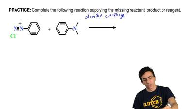 Complete the following reaction supplying the missing reactant, product or rea...