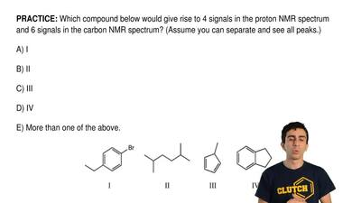 Which compound below would give rise to 4 signals in the proton NMR spectrum a...