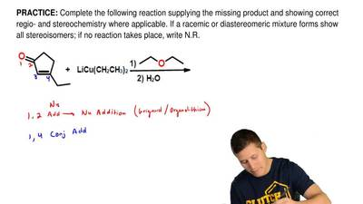 Complete the following reaction supplying the missing product and showing corr...