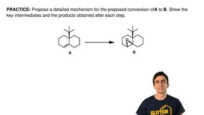 Propose a detailed mechanism for the proposed conversion of A to B. Show the k...