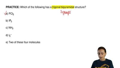 Which of the following has a trigonal bipyramidal structure?  a) PCl5  b) IF5 ...
