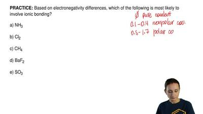 Based on electronegativity differences, which of the following is most likely ...