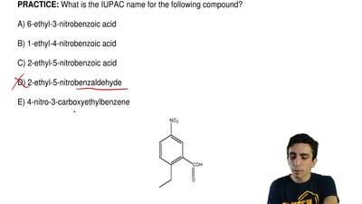 What is the IUPAC name for the following compound?  A) 6-ethyl-3-nitrobenzoic ...