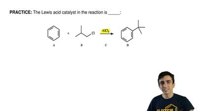 The Lewis acid catalyst in the reaction is _____: ...