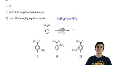 Which would be the major product(s) of the following reaction?  A) I  B) II  C...