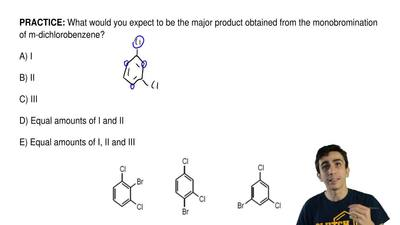 What would you expect to be the major product obtained from the monobrominatio...