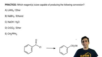 Which reagent(s) is/are capable of producing the following conversion?  A) LiA...