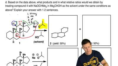 The reaction between compound 1 and NaOCHMe2 in Me2CHOH as a solvent produces ...