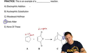 This is an example of a ____________ reaction.  A) Electrophilic Addition  B) ...