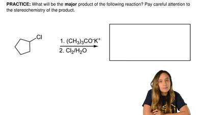 What will be the  major product of the following reaction? Pay careful attenti...