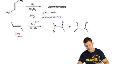 Draw the product(s) from the following reaction.  a) clearly label each drawin...