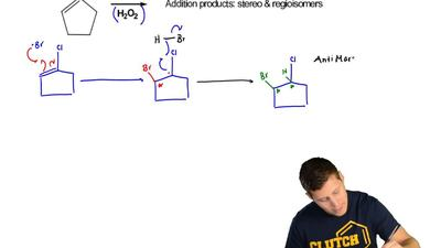 Provide the products for the following reaction.  a) clearly label each drawin...