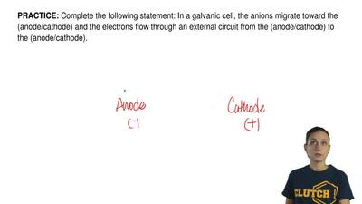 Complete the following statement: In a galvanic cell, the anions migrate towar...