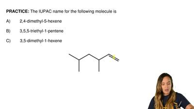 The IUPAC name for the following molecule is  A)        2,4-dimethyl-5-hexene ...