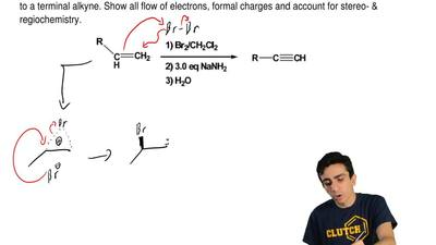 Provide the mechanism for the multi step process, by which an alkene is conver...