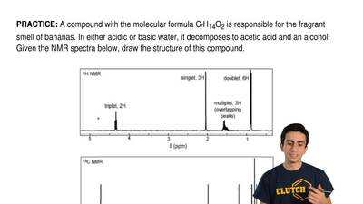 A compound with the molecular formula C7H14O2 is responsible for the fragrant ...