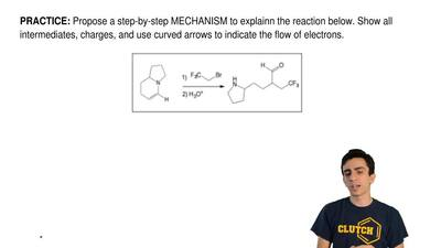 Propose a step-by-step MECHANISM to explainn the reaction below. Show all inte...