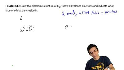 Draw the electronic structure of O 2. Show all valence electrons and indicate ...