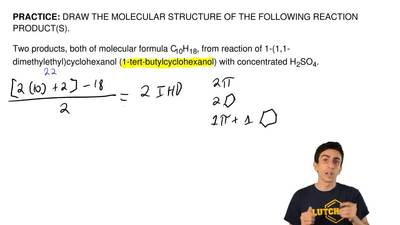 DRAW THE MOLECULAR STRUCTURE OF THE FOLLOWING REACTION PRODUCT(S).  Two produc...