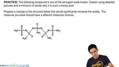 The following compound is one of the strongest acids known. Explain using deta...