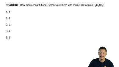 How many constitutional isomers are there with molecular formula C3H6Br2?  A....