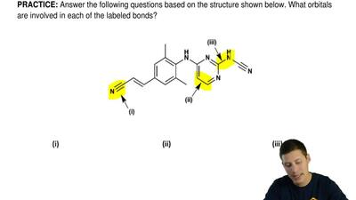 Answer the following questions based on the structure shown below. What orbita...