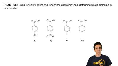 Using inductive effect and resonance considerations, determine which molecule ...