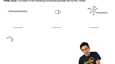 For each of the following structures provide the IUPAC name. ...