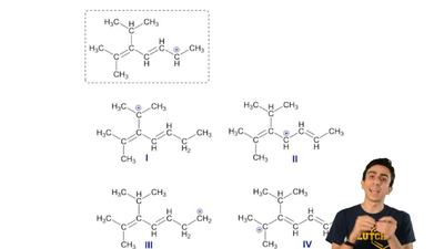 Which structures below are resonance forms of the carbocation shown in the box...