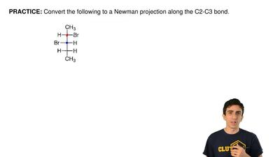 Convert the following to a Newman projection along the C2-C3 bond.  ...