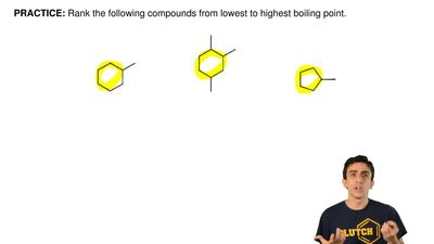 Rank the following compounds from lowest to highest boiling point. ...