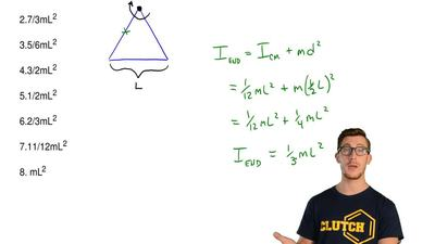 Consider a system composed of three thin rods each of mass m and length L that...