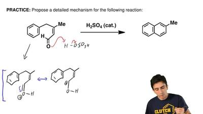 Propose a detailed mechanism for the following reaction: ...