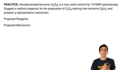 Hexadeuterated benzene (C6D6) is a very useful solvent for 1H NMR spectroscopy...