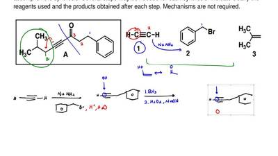 Synthesize compound A using compounds 1-3 as the only sources of carbons. You ...