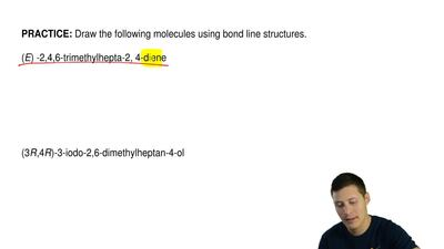 Draw the following molecules using bond line structures.   (E) -2,4,6-trimethy...