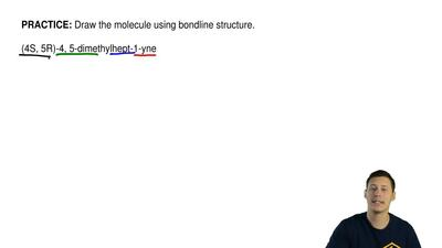 Draw the moleculeusing bondline structure.  (4S,5R)-4,5-dimethylhept-1-yne ...
