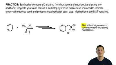 Synthesize compound 3 starting from benzene and epoxide 2 and using any additi...