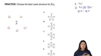 Choose the best Lewis structure for ICI5. ...