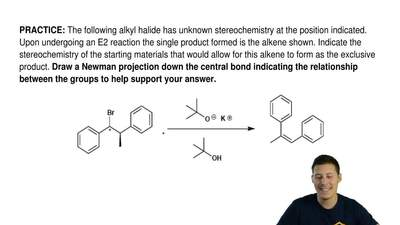 The following alkyl halide has unknown stereochemistry at the position indicat...
