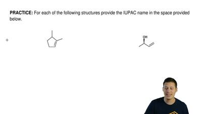 For each of the following structures provide the IUPAC name in the space provi...