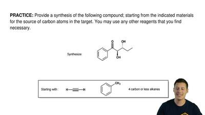 Provide a synthesis of the following compound; starting from the indicated mat...