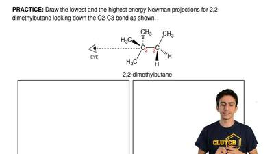 Draw the lowest and the highest energy Newman projections for 2,2- dimethylbut...