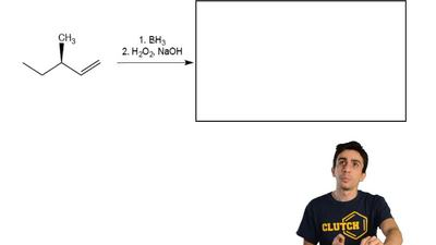 Fill in the box with the product of the following reaction of alkene. Assume t...
