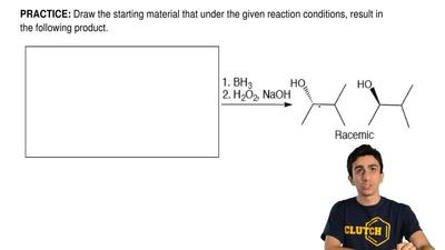 Draw the starting material that under the given reaction conditions, result in...