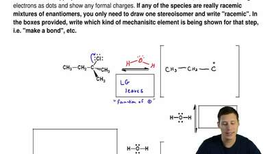 Complete the following mechanism for an SN1 reaction that occurs when 2-chloro...