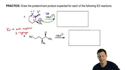 Draw the predominant product expected for each of the following E2 reactions. ...