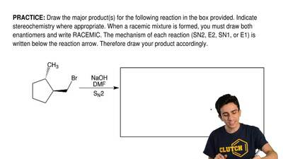 Draw the major product(s) for the following reactionin the boxprovided. Indi...