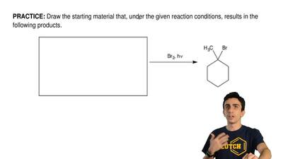 Draw the starting material that, under the given reaction conditions, results ...